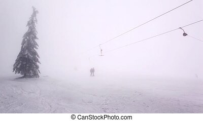 Ski resort in Carpathian Mountain - Winter time in Carpatian...