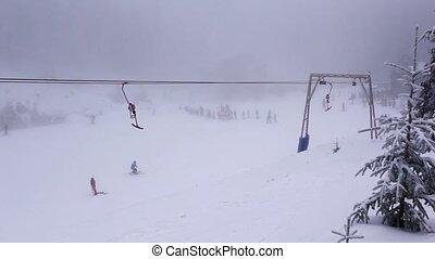 Ski resort in Carpathian Mountain - Winter time in Carpatian...