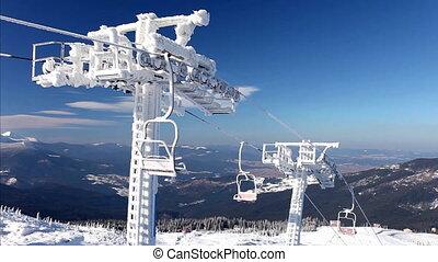 Winter in Carpatian mountains, beautiful landscape