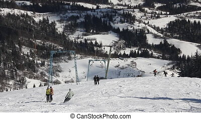 Ski resort in the Carpathians - Ski resort in the...