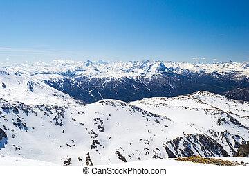 Ski resort in the italian alps