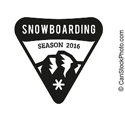 Ski resort logo emblems, labels badges
