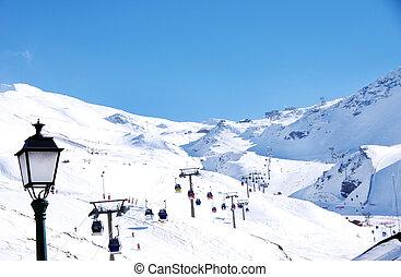 ski resort of Sierra Nevada in Andalucia, Spain