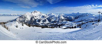 Ski resort panorama - Panoramic view from the top of...