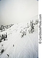 Ski Resort Terrain in Winter