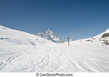 Ski resort with majestic view in Italy