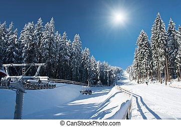 Ski Resort with Sun