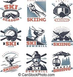 Ski Season Emblem Set