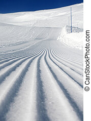 Ski slope - Desert ski slope in winter time