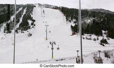 Ski slope in Andorra in winter
