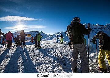 ski slope - people skiing