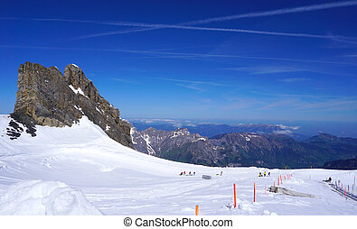 ski snow mountains park Titlis, Engelberg, Switzerland