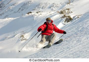 Ski - sport - Man doing ski