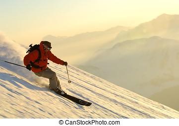 ski, sportende, -