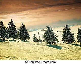 Ski sunset!