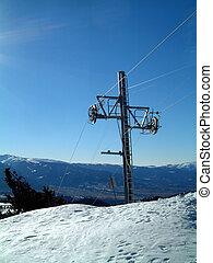 Ski tow pylon