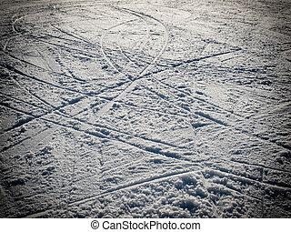 Ski traces