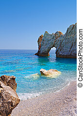 Skiathos island in Greece - Lalaria beach and the famous...