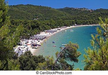 Skiathos island in Greece - Koukounaries beach at Skiathos...