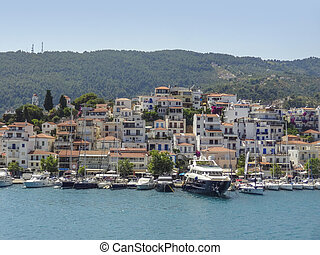 city named Skiathos, located at Skiathos which is one of the greek Sporades islands