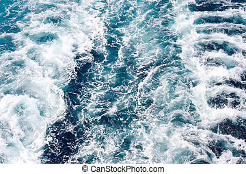 skib, closeup, bølger
