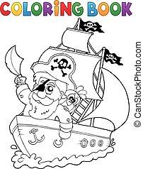 skib, coloring bog
