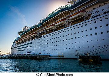skib cruise, nøgle vest, florida.