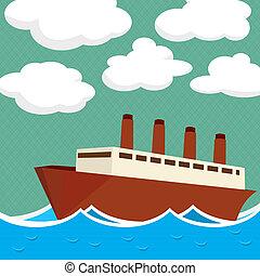 skib, damp
