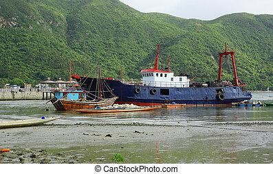 skib, fiske