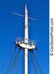 skib, mast, closeup