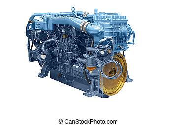 skib, motor, 2