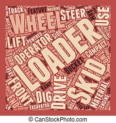 Skid Loader 1 text background wordcloud concept