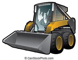 skid loader - A small skid loader.