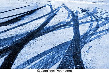 Skid Marks in Snow
