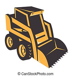 skid steer hi-angle - skid steer illustration