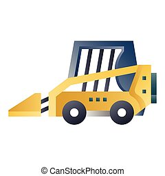 Skid steer loader gradient illustration