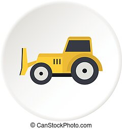 Skid steer loader icon circle