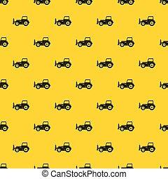 Skid steer loader pattern vector