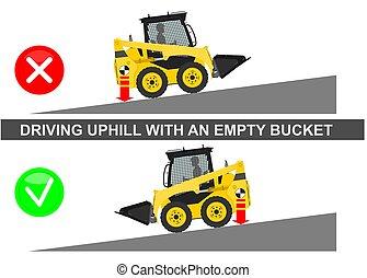 Skid steer loader safety tips.