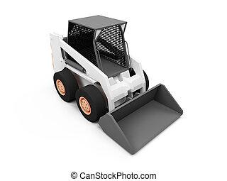 Skid steer loader - isolated skid steer loader on a white...