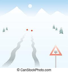 skidding tire track eps8