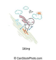 Skier. Illustration.