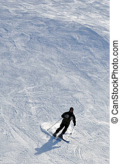 Skier in powder snow
