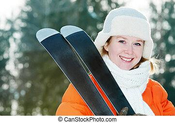 skier, kleidung, winter, m�dchen