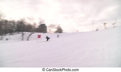 Skier on a downhill