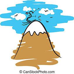 skier on a mountain
