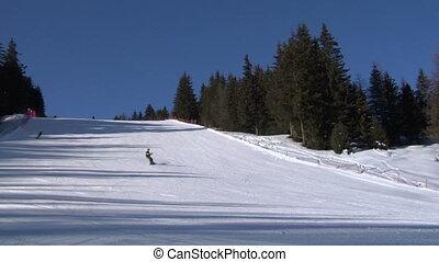 skier slow 01 - Skier slow motion