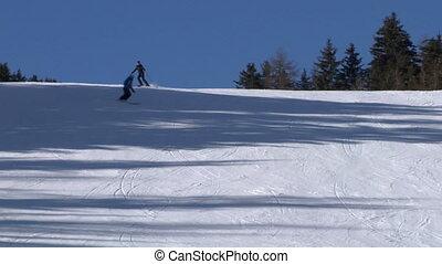 skier slow 03 - Skier slow motion