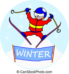 Skier. Without gradients. The figure is easy to place in a...