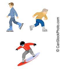 Skiers boys set on white
